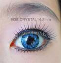 New Eos Crystal 14.8mm Blue softlens