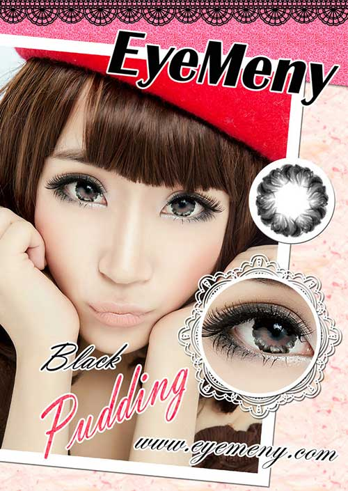 Eyemeny-pudding-black softlens