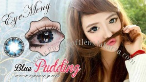 Eyemeny-pudding-blue softlens