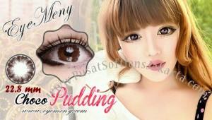 softlens+eyemeny+pudding+choco