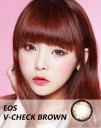 New Eos V-Check 3 tone Softlens Brown