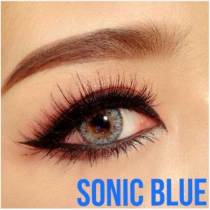Sonic-blue dramcon softlens