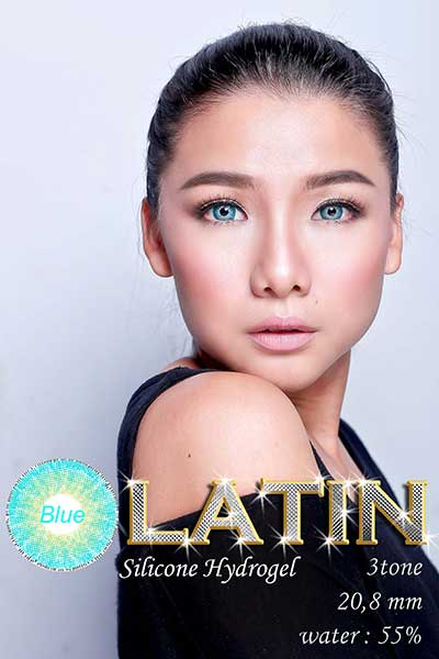 Latin 3 tone-blue softlens