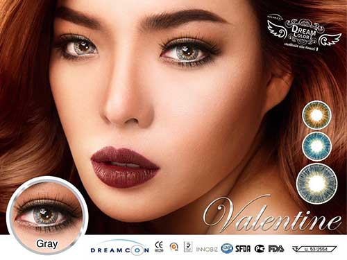 NEW DREAMCON VALENTINE Softlens Gray