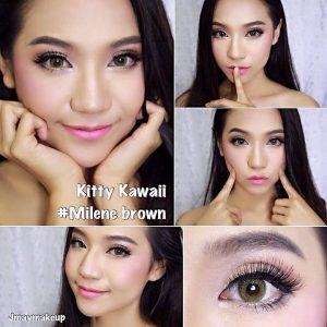 milene kitty-brown softlens