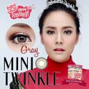 Kitty Kawaii Plus Mini Twinkle Brown dan Gray Softlens
