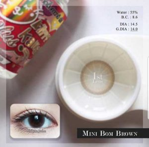 Kitty Kawai Mini-Bom-Brown softlens