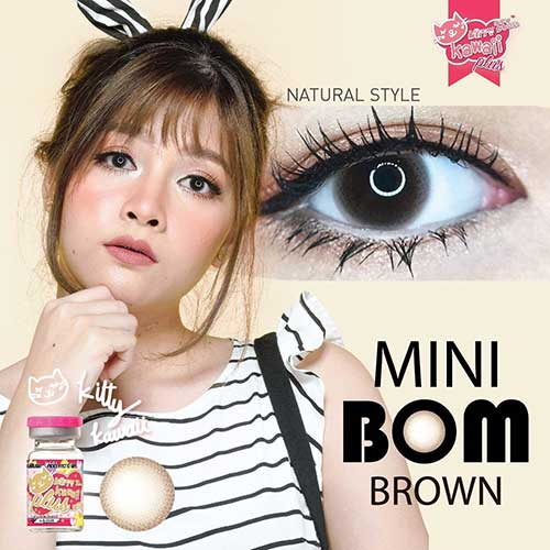 kitty kawaii-Mini-Bom-Brown