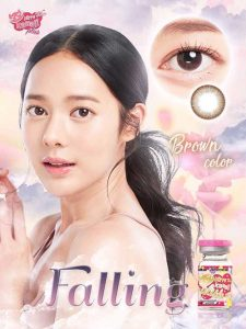 falling-brown-kitty kawaii softlens