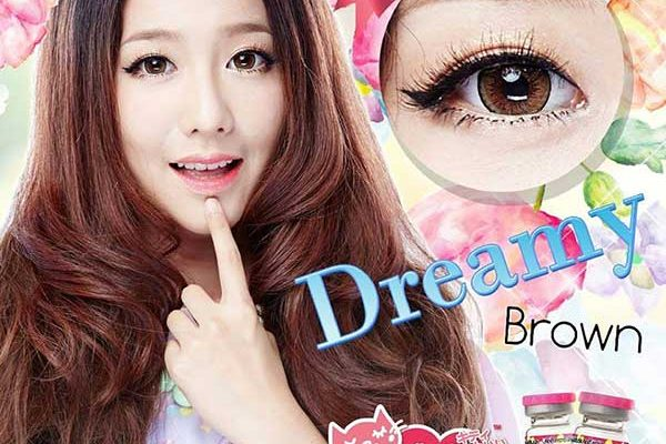 dreamy-brown- kitty kawaii softlens
