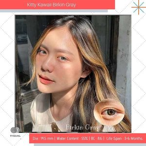 birkin gray kitty kawaii softlens